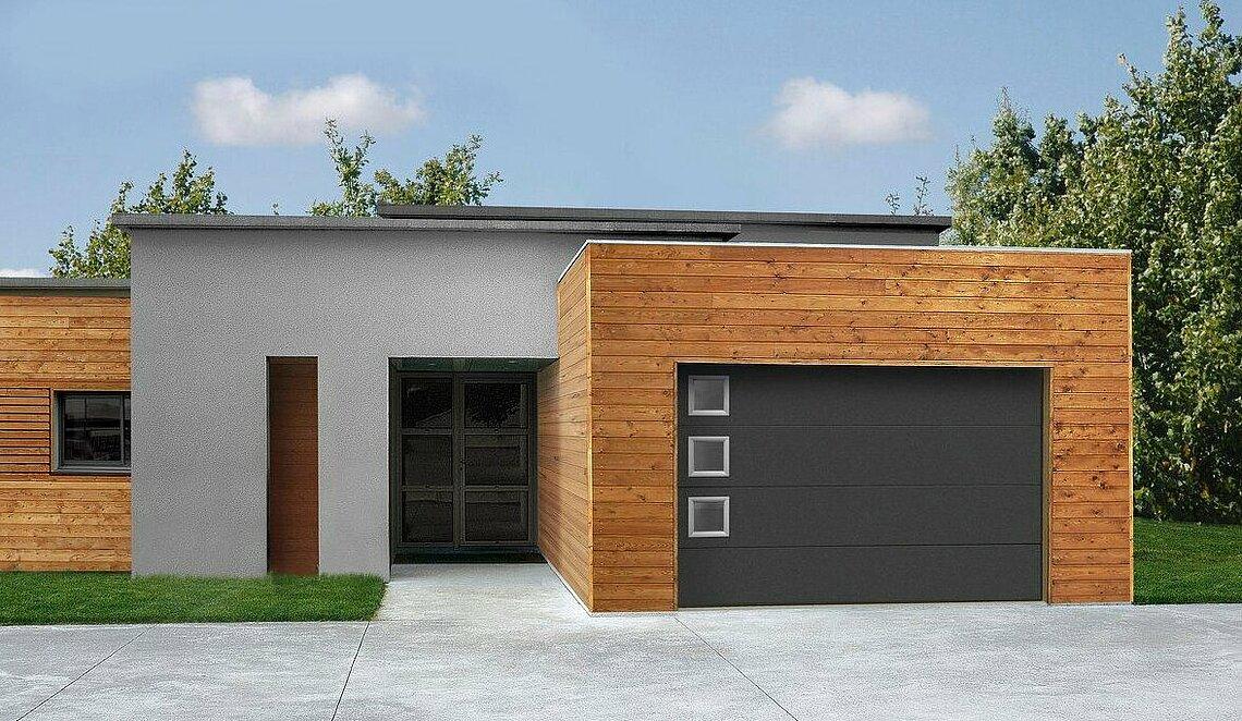 brama segmentowa garażowa iso 45 Satin dark grey