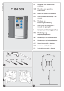 Instrukcja sterowania T100DES (bramy przemysłowe)
